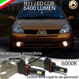 Kit Full LED Fendinebbia H11 6400 LUMEN RENAULT CLIO II RESTYLING