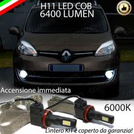 KitFull LEDFendinebbia H11 6400 LUMENRENAULTSCENIC III
