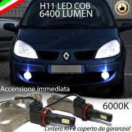 KitFull LEDFendinebbia H11 6400 LUMENRENAULTSCENIC II