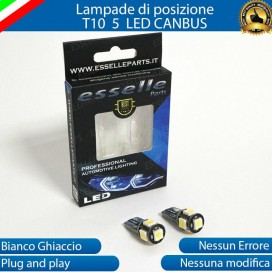 Luci posizione T10 W5W 5 LED Canbus Dacia Dokker