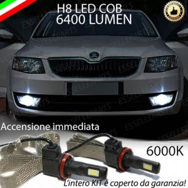 KitFull LED H8 6400 LUMEN FendinebbiaSKODAOCTAVIA III