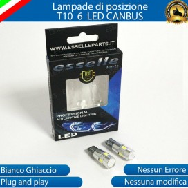 Luci posizione T10 W5W 6 LED Canbus Peugeot 107