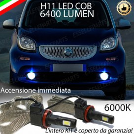 KitFull LEDFendinebbia H11 6400 LUMENSMARTFORTWO III