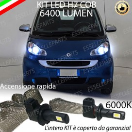 Kit Full LED H7 6400 LUMEN Anabbaglianti SMART FORTWO II