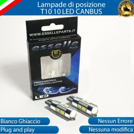 Luci posizione T10 W5W 10 LED Canbus Peugeot 807
