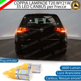 Coppia Frecce Posteriori T20 WY21W 35 LED Canbus Volkswagen Golf 7