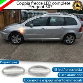 PLACCHETTE LATERALI A 18 LED PER FRECCE SPECIFICHE PER PEUGEOT 307