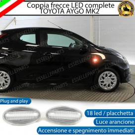 PLACCHETTE LATERALI A 18 LED PER FRECCE SPECIFICHE PER TOYOTA AYGO II