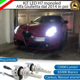 Kit Full LED H7 Monoled 12000 LUMEN ALFA ROMEO GIULIETTA DAL 2014 IN POI