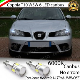 Luci posizione T10 W5W 6 LED Canbus Seat Ibiza (6L)