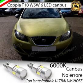 Luci posizione T10 W5W 6 LED Canbus Seat Ibiza (6J)