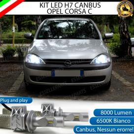 KitFull LED H7 8000 LUMEN AnabbagliantiOPEL CORSA C CON FARO A PARABOLA