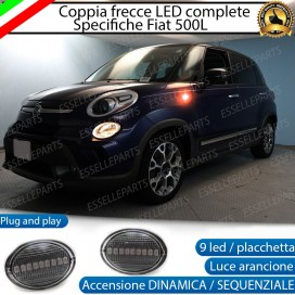 Placchette Dinamiche Laterali a 9 led per frecce specifiche per Fiat 500L