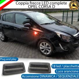 Placchette Dinamiche Laterali a 18 led per frecce specifiche per Opel Corsa D