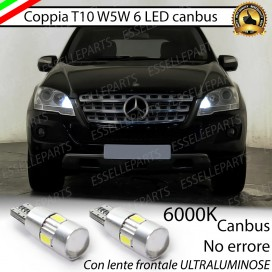 Luci posizione T10 W5W 6 LED Canbus Mercedes ML (W164)