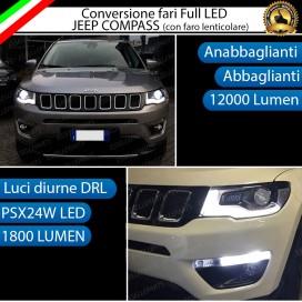 Conversione Fari Full LED 12000LM + 1800LM