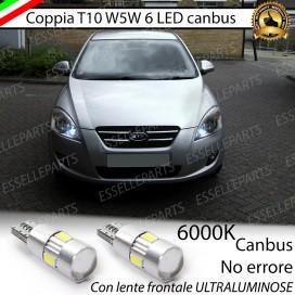 Luci posizione T10 W5W 6 LED Canbus Kia Ceed Pro Ceed 1