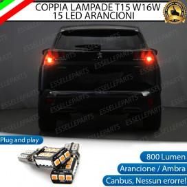 Coppia Frecce Posteriori T15 W16W 15 LED Canbus PER PEUGEOT 3008 II