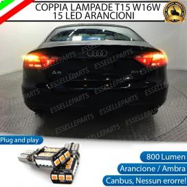 Coppia Frecce Posteriori T15 W16W 15 LED Canbus PER AUDI A5 8T