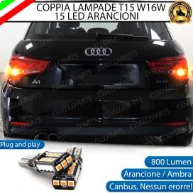 Coppia Frecce Posteriori T15 W16W 15 LED Canbus PER AUDI A1