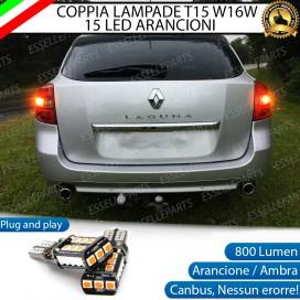 Coppia Frecce Posteriori T15 W16W 15 LED Canbus PER RENAULT LAGUNA III