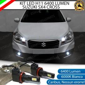 KitFull LEDFendinebbia H11 6400 LUMENSUZUKISX4S-CROSS