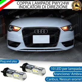 Coppia Frecce Anteriori PWY24W 10 LED Canbus AUDI A3 8V