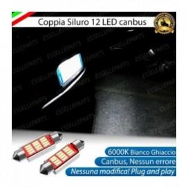 LUCI TARGA 12 LED CANBUS 6000K PER AUDI A3 8P 8PA FINO AL 2009
