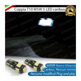 Luci Targa 5 LED Canbus 6000K per Subaru Impreza (GE GH GR)