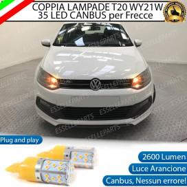 Coppia Frecce Anteriori T20 WY21W 35 LED Canbus Volkswagen Polo 6R 6C