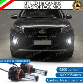 Kit Full LED H8 9800 LUMEN Fendinebbia per KIA SORENTO III