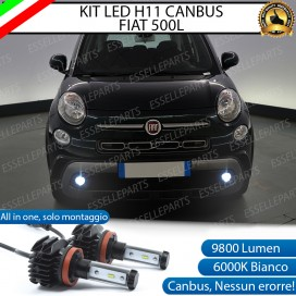 Kit Full LED Fendinebbia H11 9800 LUMEN per FIAT 500L