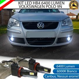 KitFull LED HB4 6400 LUMENFendinebbiaVW POLO 9N