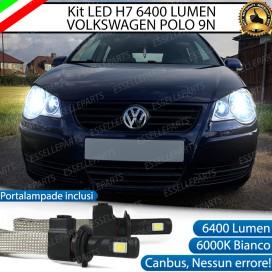 KitFull LED H7 6400 LUMEN AnabbagliantiVW POLO 9N