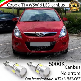 Luci posizione T10 W5W 6 LED Canbus Hyundai I20 I