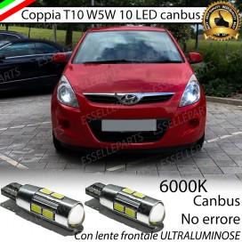 Luci posizione T10 W5W 10 LED Canbus Hyundai I20 I