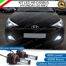 Kit Full LED H8 9800 LUMEN Fendinebbia per HYUNDAI I20 II