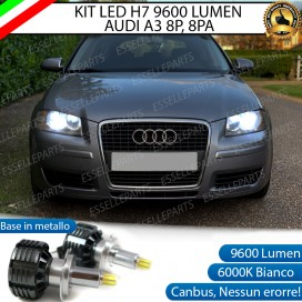 Kit Full LED H7 9600 LUMEN Anabbaglianti AUDI A3 8P PRE-RESTYLING