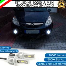 Kit Full LED H3 10000 Lumen Fendinebbia OPEL CORSA D