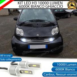 Kit Full LED H3 10000 Lumen Fendinebbia SMART FORTWO I