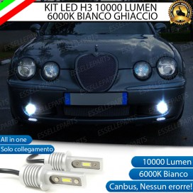 Kit Full LED H3 10000 Lumen Fendinebbia JAGUAR S-TYPE