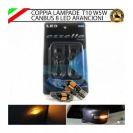 Coppia Lampade T10 W5W 8 LED per Frecce Laterali Audi A4 (B6)