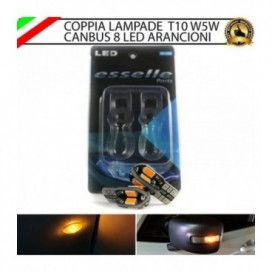 Coppia Lampade T10 W5W 8 LED per Frecce Laterali Citroen C4 Picasso