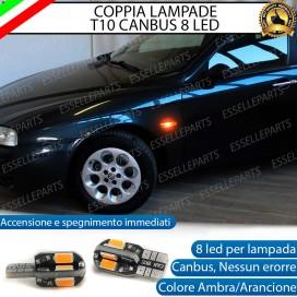 Coppia Lampade T10 W5W 8 LED per Frecce Laterali Alfa Romeo 156