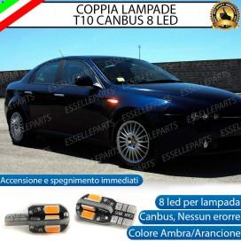 Coppia Lampade T10 W5W 8 LED per Frecce Laterali Alfa Romeo Brera