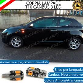 Coppia Lampade T10 W5W 8 LED per Frecce Laterali Alfa Romeo Mito