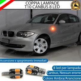 Coppia Lampade T10 W5W 8 LED per Frecce Laterali BMW Serie 1 (E87 E88 E81 E82)