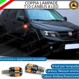 Coppia Lampade T10 W5W 8 LED per Frecce Laterali Fiat Freemont