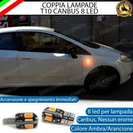 Coppia Lampade T10 W5W 8 LED per Frecce Laterali Fiat Punto Evo