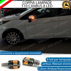 Coppia Lampade T10 W5W 8 LED per Frecce Laterali Ford Fiesta (MK6) Restyling